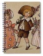 Hollyhocks, Victorian Card Spiral Notebook