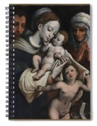 Holy Family With Elisabeth And John The Baptist  Spiral Notebook