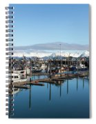 Homer Alaska Fishing Port Spiral Notebook