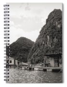 Homes On Ha Long Bay Boat People  Spiral Notebook