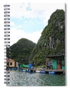 Homes On Ha Long Bay Gulf Of Tonkin  Spiral Notebook