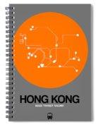 Hong Kong Orange Subway Map Spiral Notebook