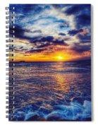 Honolulu Sunset Spiral Notebook