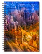 Hoodoo's Rainbow Color Mix Bryce Canyon  Spiral Notebook