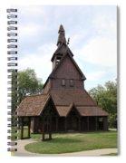 Hopperstad Stave Church Replica Spiral Notebook