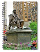 Horace Greelly, First President Of Typographic Union Of New York City Spiral Notebook