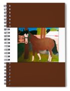 Horse On A Ranch Spiral Notebook