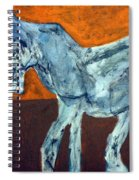 Horse On Orange Spiral Notebook