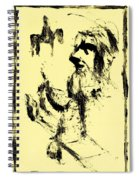 Horsemen On Yellow Spiral Notebook