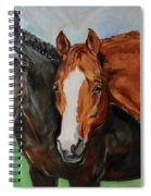 Horses In Oil Paint Spiral Notebook