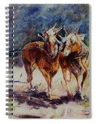 Horses On Work Spiral Notebook