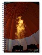 Hot Air 2018 Balloon Glow Spiral Notebook