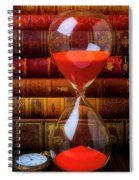 Hourglass And Old Books Spiral Notebook
