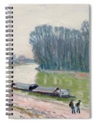 Houseboats On The River Loing Spiral Notebook