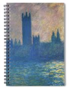 Houses Of Parliament, Sunlight Effect - Digital Remastered Edition Spiral Notebook