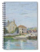 Houses On The Bank Of Ecluse At The Gazonne Spiral Notebook