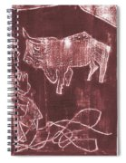 How The Camel Got His Hump Oil Otd Painting 16 Spiral Notebook