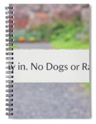 Howay In. No Dogs Or Rabbits - Allotments Spiral Notebook