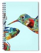 Hummingbird Blue - Sharon Cummings Spiral Notebook