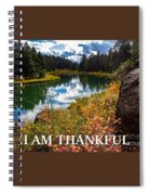 I Am Thankful Spiral Notebook