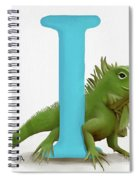 I Is For Iguana Spiral Notebook