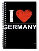 I Love Germany Spiral Notebook
