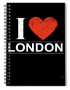 I Love London Spiral Notebook