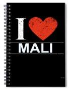I Love Mali Spiral Notebook