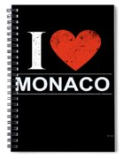 I Love Monaco Spiral Notebook