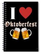I Love Oktoberfest Tee Shirt Spiral Notebook