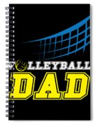 I Love Volleyball Team Player Ball Spiral Notebook