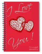 I Love You Hearts Spiral Notebook