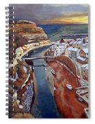 I Saw Three Ships Come Sailing In, On Christmas Day In The Morning. Spiral Notebook