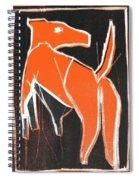 I Was Born In A Mine Orange Dog 33 Spiral Notebook