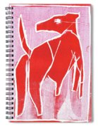 I Was Born In A Mine Red Dog 34 Spiral Notebook