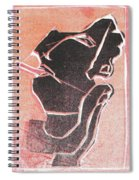 I Was Born In A Mine Woodcut 12 Spiral Notebook