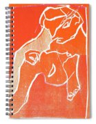I Was Born In A Mine Woodcut 19 Spiral Notebook
