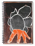 I Was Born In A Mine Woodcut 24 Spiral Notebook