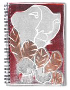 I Was Born In A Mine Woodcut 37 Spiral Notebook
