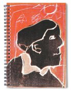 I Was Born In A Mine Woodcut 49 Spiral Notebook