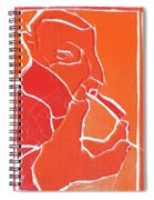I Was Born In A Mine Woodcut 69 Spiral Notebook