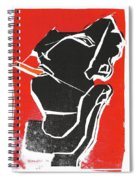 I Was Born In A Mine Woodcut 7 Spiral Notebook
