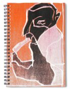 I Was Born In A Mine Woodcut 74 Spiral Notebook