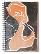I Was Born In A Mine Woodcut 75 Spiral Notebook