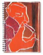 I Was Born In A Mine Woodcut 76 Spiral Notebook