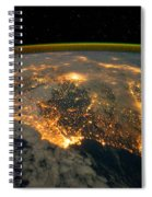 Iberian Peninsula From Space Spiral Notebook