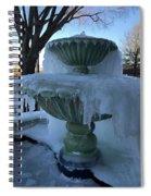 Ice Fountain Spiral Notebook