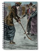 Ice Hockey  Ladies Match On The Lake In Wimbledon Park Spiral Notebook