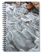 Ice Swirls Spiral Notebook