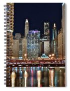 Iconic Night View Down The River Spiral Notebook